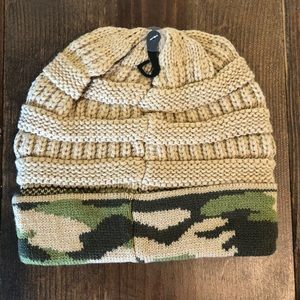 cc beanie Accessories - C.C. Beanie CAMEL/CAMOUFLAGE cuff knit beanie